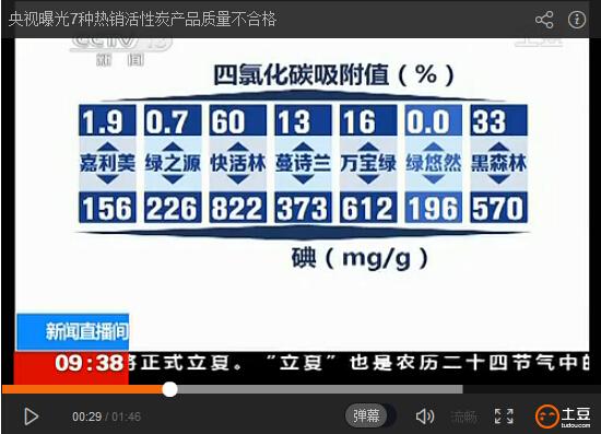 央视新闻曝光快活林活性炭视频